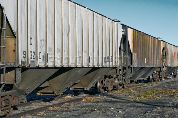 ждет железная дорога автомобилей сельский Сток-фото © rcarner