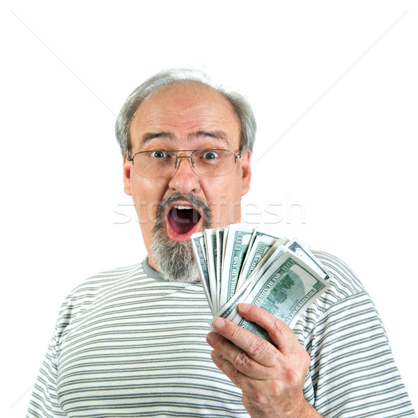 Surprised Winner of Cash Stock photo © rcarner