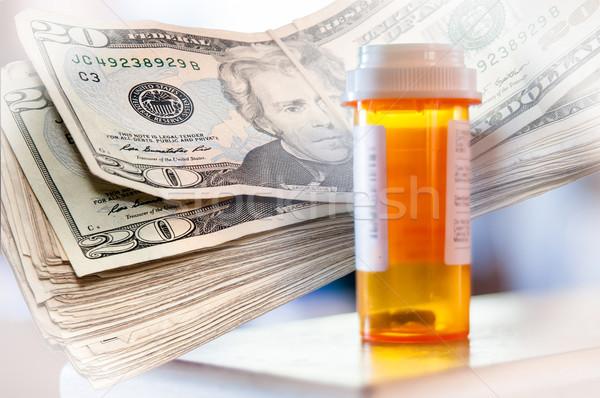 медицина бутылок деньги двадцать Сток-фото © rcarner