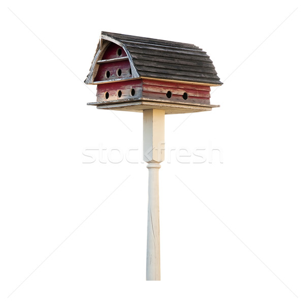 Bird House With Gambrel Roof Stock photo © rcarner