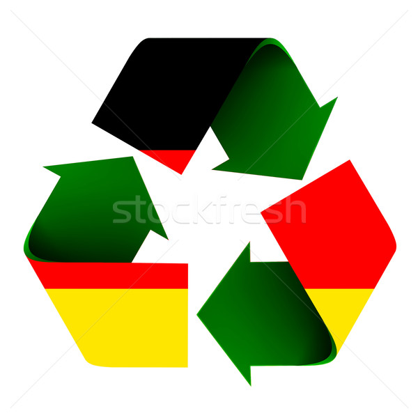 German Flag On A Recycle Symbol Stock Photo Robert Carner Rcarner