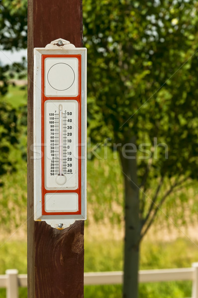 Old fashioned thermometer Stock photo © rcarner