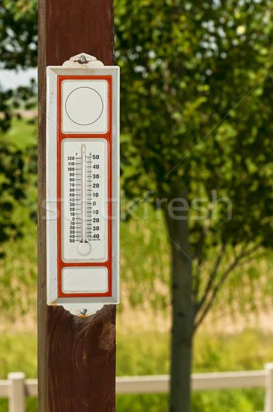 Pasado de moda termómetro vintage 24 Foto stock © rcarner