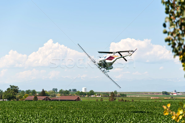 Crop Duster Making a Turn Stock photo © rcarner