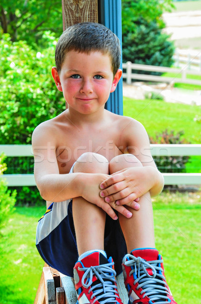 Happy Little Boy In The Summer Stock photo © rcarner
