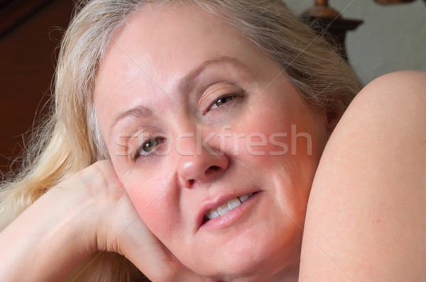 Pretty Blonde Woman Resting Stock photo © rcarner