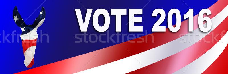 Democrat election Sticker for 2016 Stock photo © rcarner
