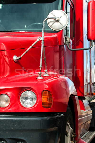 Close View of a Semi-Truck Front End Stock photo © rcarner