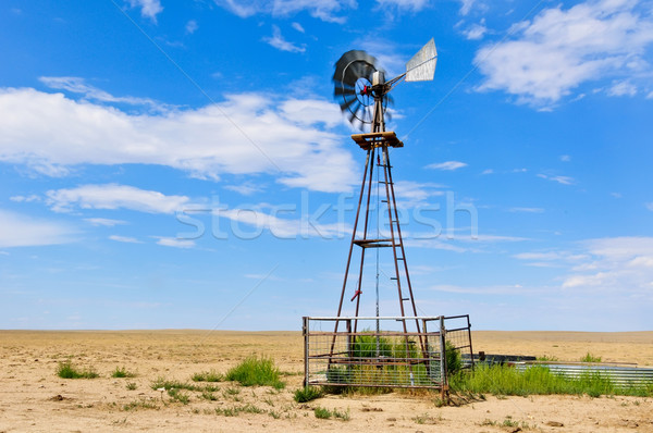 Spinning Vanes on a Windmill Stock photo © rcarner