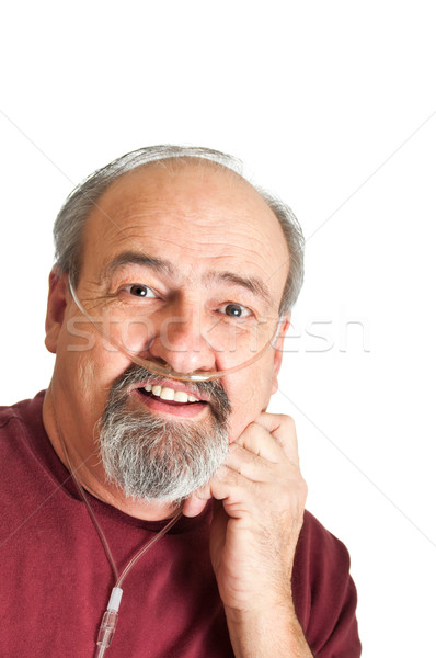 Mature Man With Breathing Disability Stock photo © rcarner
