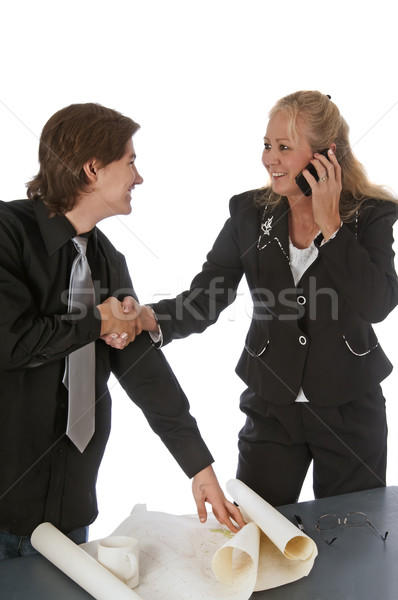 Woman Makes a Corporate Agreement Stock photo © rcarner