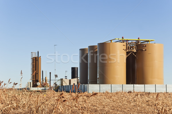 Treater And Tanks For Crude Oil And Condensate Stock photo © rcarner