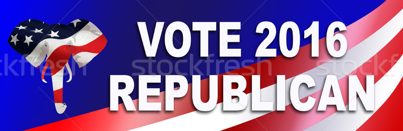 Republikein verkiezing sticker 2016 presidents- USA Stockfoto © rcarner