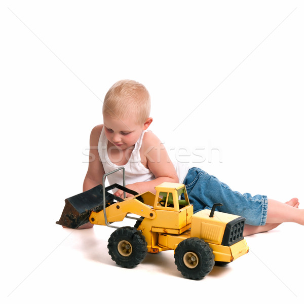Cute Little Construction Worker Stock photo © rcarner