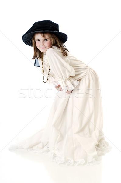 Posando vestir seis little girl jogar feliz Foto stock © rcarner
