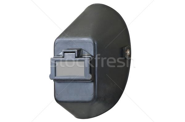 Soldagem capacete olho escudo para baixo isolado Foto stock © rcarner