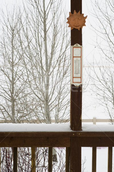 Snowy day in winter Stock photo © rcarner