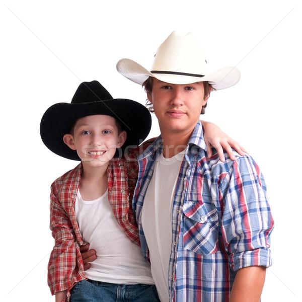 Stock fotó: Cowboy · nagybácsi · boldog · fiatalember · férfi · gyerek