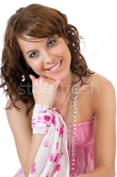 Portrait of a beautiful young woman Stock photo © rcarner
