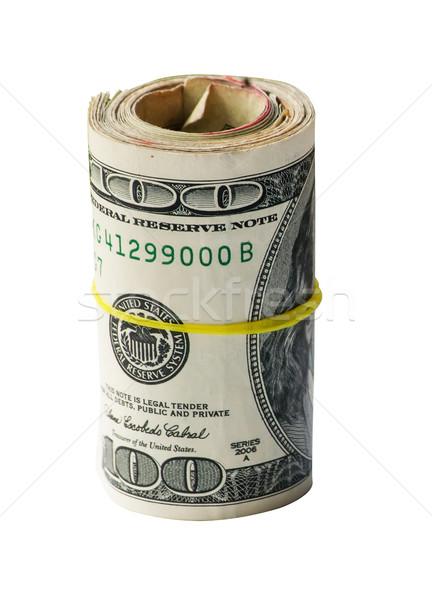 USA geld rollen honderd Stockfoto © rcarner