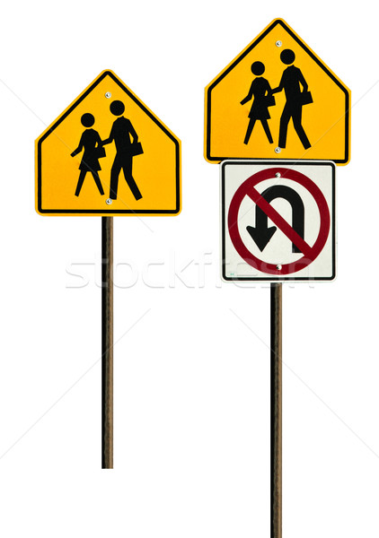 School Zone Signs Stock photo © rcarner
