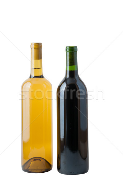 Two bottles of wine, one red and one white. Stock photo © rcarner