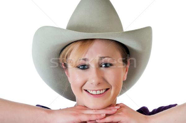 Pretty cowgirl Stock photo © rcarner