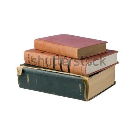 три старые книгах готовый исследований Сток-фото © rcarner
