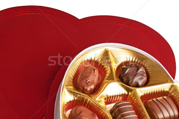 Open Box of Chocolate Candy Stock photo © rcarner