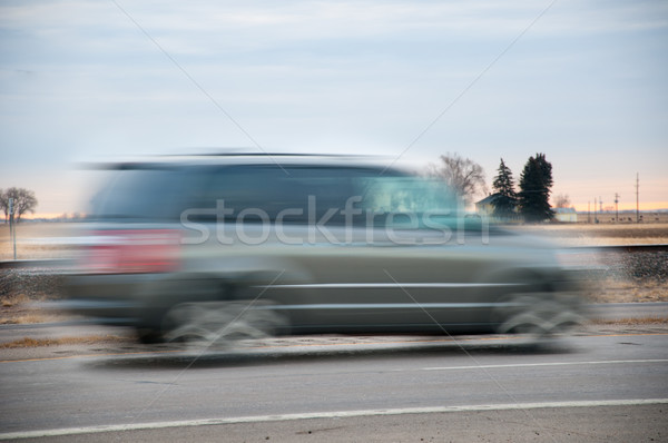 Fast vehichle rushing though the countryside Stock photo © rcarner