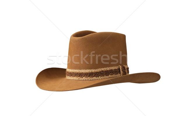 Tradizionale americano cappello da cowboy isolato attrezzi Foto d'archivio © rcarner