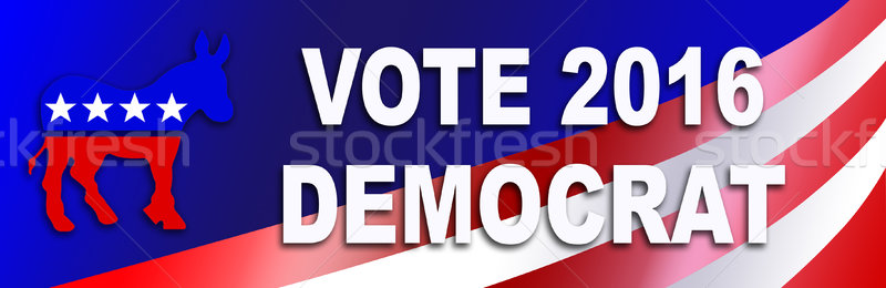 Democraat verkiezing sticker 2016 presidents- USA Stockfoto © rcarner
