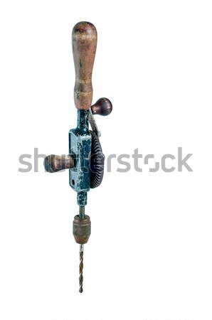Vintage hand drill operated without electricity Stock photo © rcarner