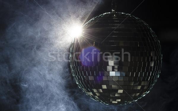 Disco ball świetle migotać dymu nocnych obraz Zdjęcia stock © Reaktori