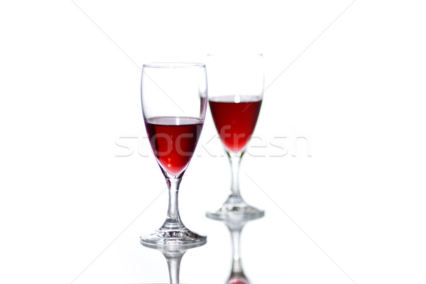 Two glasses of red wine. Stock photo © Reaktori