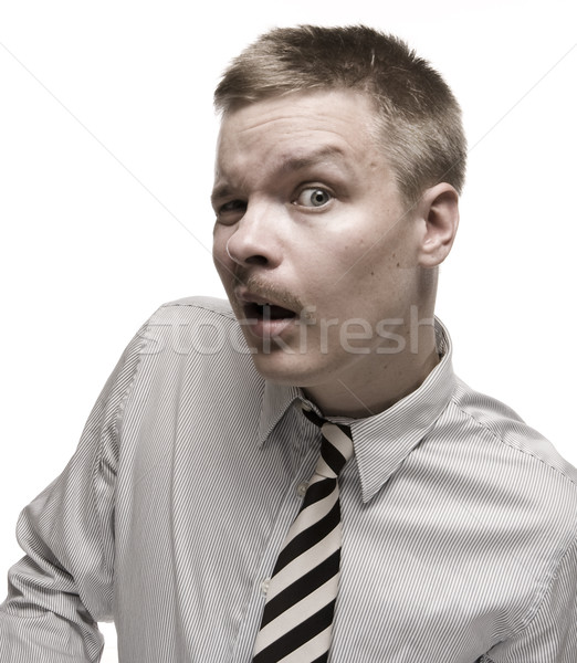 Człowiek shirt tie funny Zdjęcia stock © Reaktori