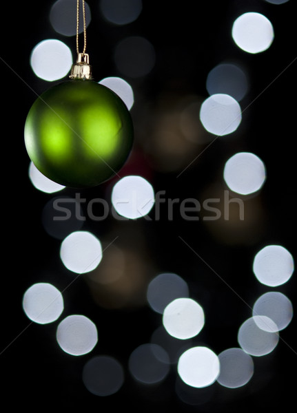 Green Christmas ball. Stock photo © Reaktori