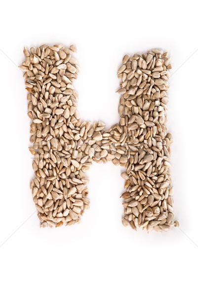 Litera h alfabet słonecznika nasion żywności list Zdjęcia stock © Reaktori