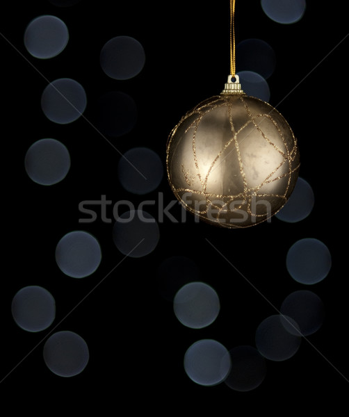 Golden Christmas ball. Stock photo © Reaktori