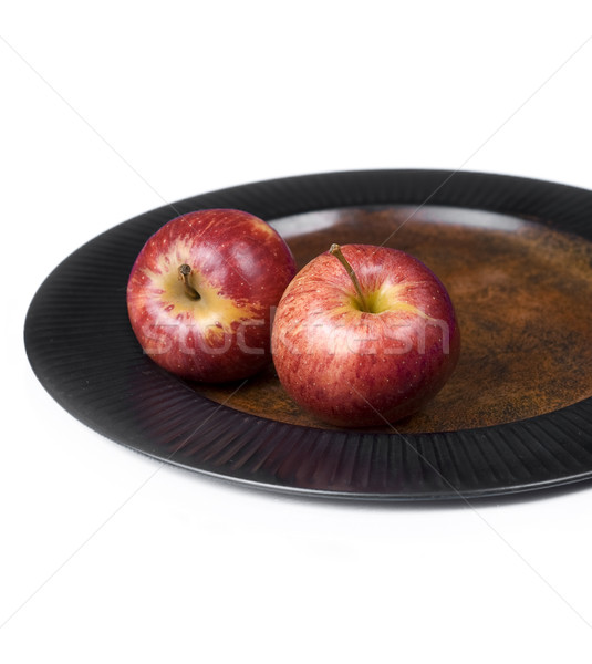 Two Red Apples on a Plate. Stock photo © Reaktori