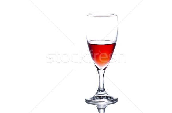 Szkła wino czerwone biały wina restauracji Zdjęcia stock © Reaktori