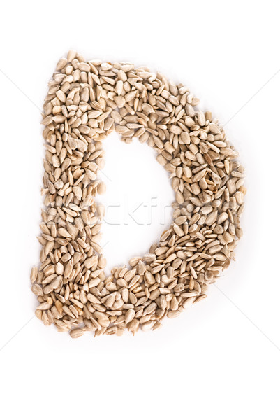 Litera d alfabet słonecznika nasion żywności list Zdjęcia stock © Reaktori