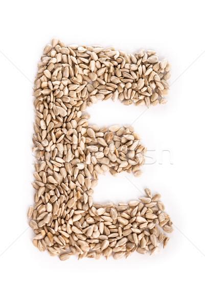 Alfabet słonecznika nasion żywności list Zdjęcia stock © Reaktori