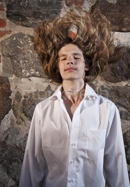 рокер длинные волосы позируют Сток-фото © Reaktori