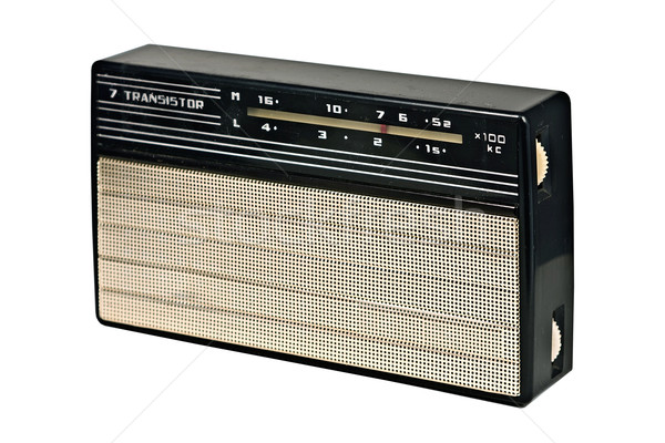 vintage transistor radio recevier Stock photo © RedDaxLuma