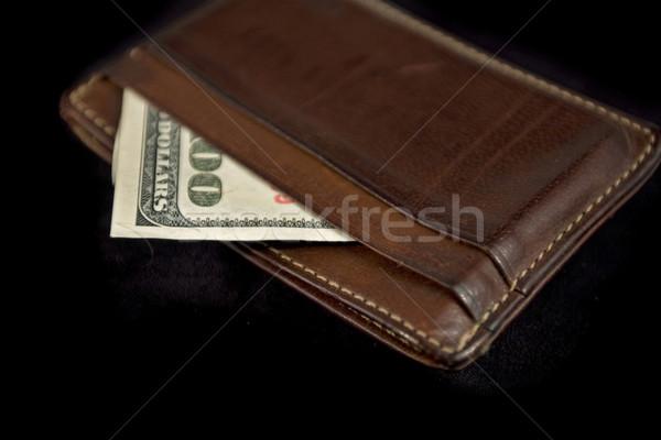 wallet with hundred dollars Stock photo © RedDaxLuma
