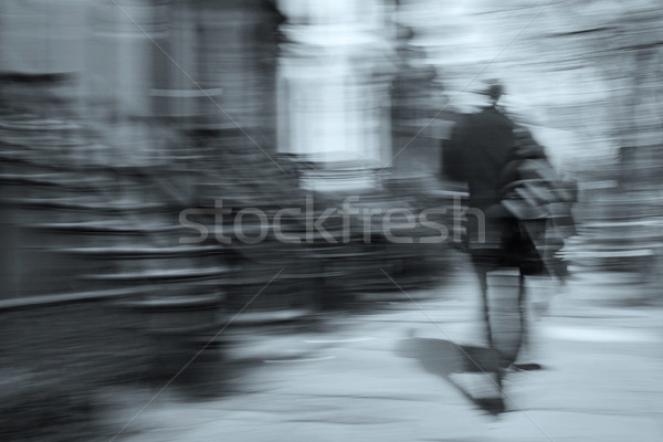 man walking motion blur Stock photo © RedDaxLuma