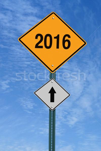 2016 ahead roadsign Stock photo © RedDaxLuma