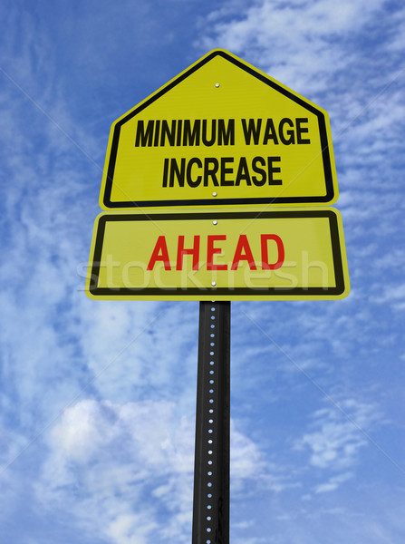 monimum wage increase ahead Stock photo © RedDaxLuma