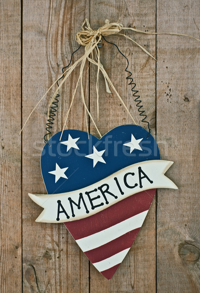 Stock photo: vintage wooden patriotic decor